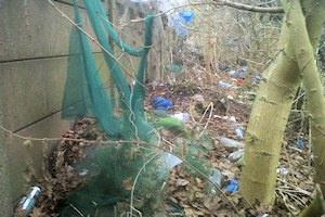Rubbish in Aldersbrook Exchange Lands