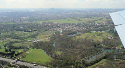 Aerial view of Wanstead area